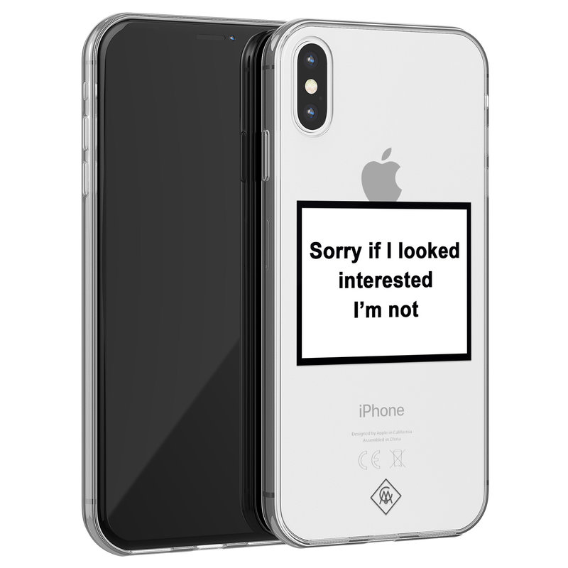 Casimoda iPhone X/XS transparant hoesje - Not interested