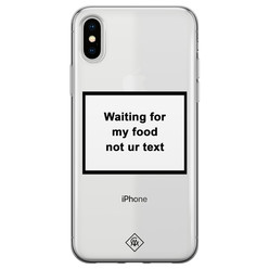 Casimoda iPhone X/XS transparant hoesje - Waiting for my food