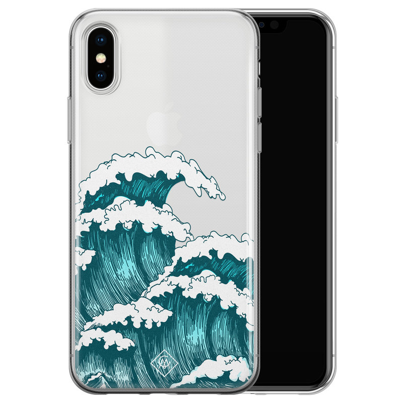 Casimoda iPhone X/XS transparant hoesje - Wave