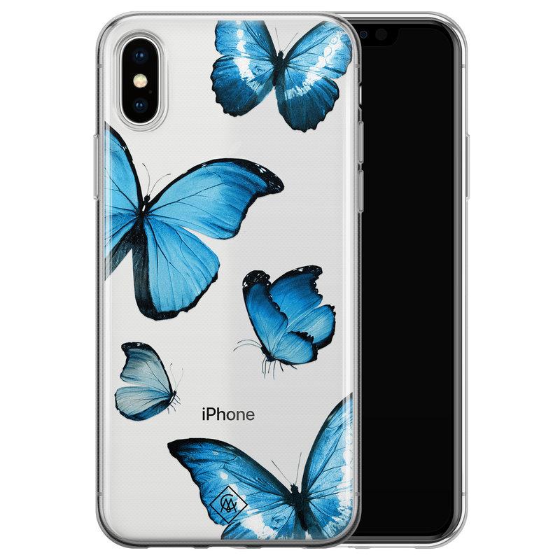 Casimoda iPhone X/XS transparant hoesje - Vlinders