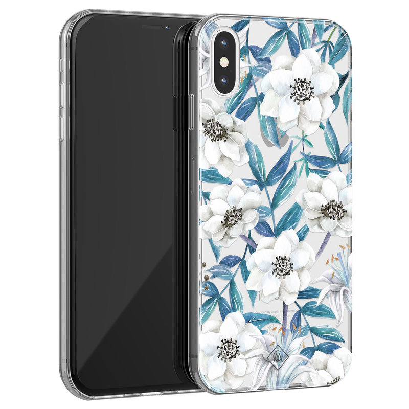 Casimoda iPhone X/XS transparant hoesje - Touch of flowers