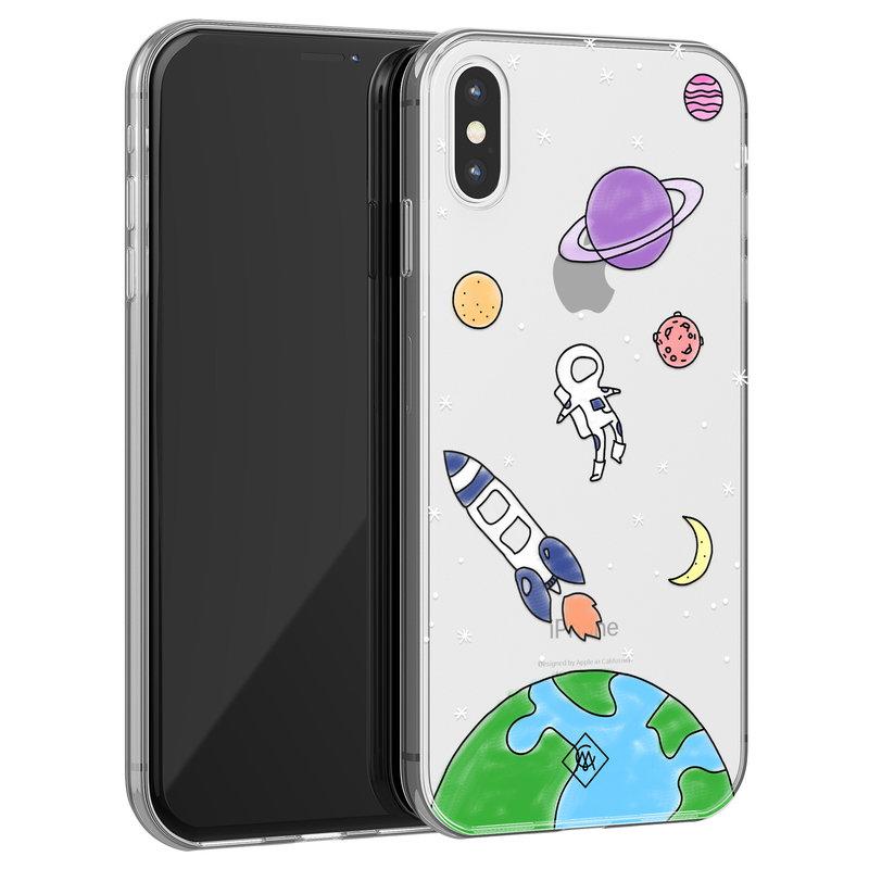 Casimoda iPhone X/XS transparant hoesje - Universum