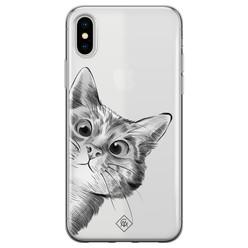Casimoda iPhone X/XS transparant hoesje - Peekaboo