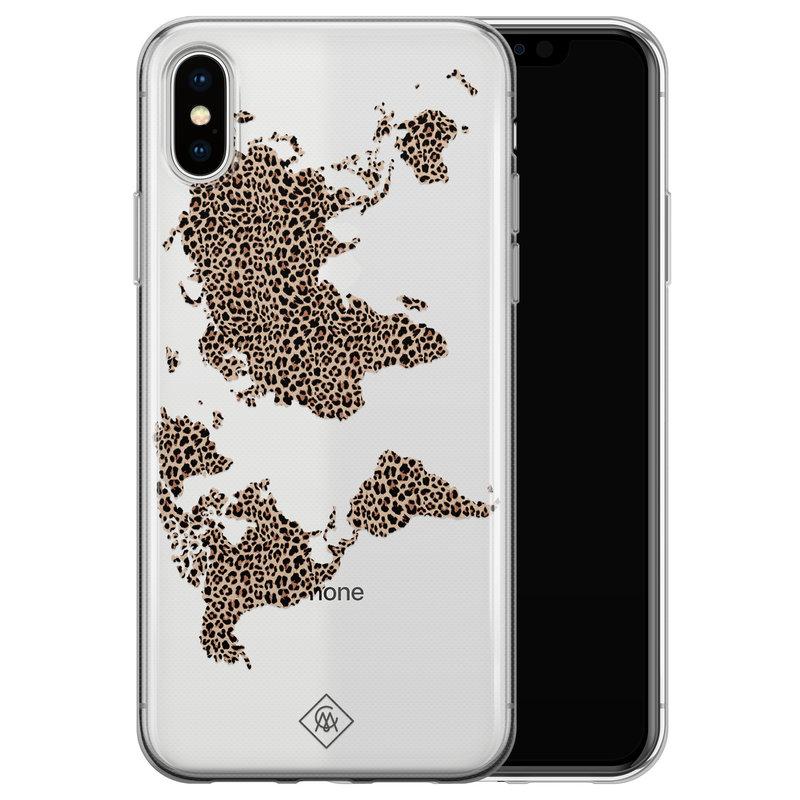 Casimoda iPhone X/XS transparant hoesje - Wild world