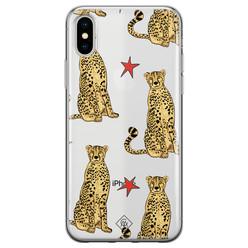 Casimoda iPhone X/XS transparant hoesje - Stay wild