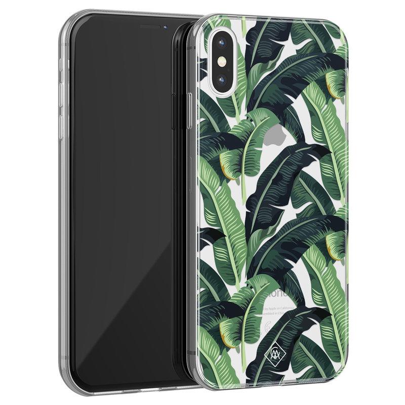 Casimoda iPhone X/XS transparant hoesje - Jungle