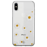 Casimoda iPhone X/XS transparant hoesje - Daisies