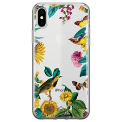 Casimoda iPhone X/XS transparant hoesje - Sunflowers