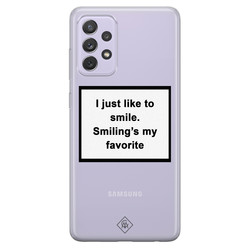 Casimoda Samsung Galaxy A52 transparant hoesje - Always smiling