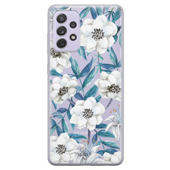 Casimoda Samsung Galaxy A52 transparant hoesje - Touch of flowers