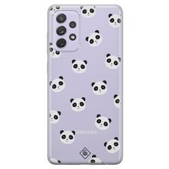 Casimoda Samsung Galaxy A52 transparant hoesje - Panda