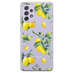 Casimoda Samsung Galaxy A52 transparant hoesje - Lemons