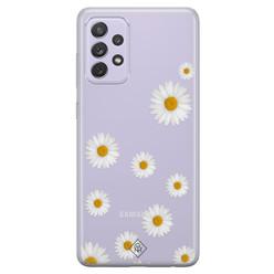 Casimoda Samsung Galaxy A52 transparant hoesje - Daisies