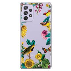 Casimoda Samsung Galaxy A52 transparant hoesje - Sunflowers