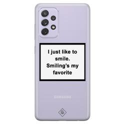 Casimoda Samsung Galaxy A72 transparant hoesje - Always smiling