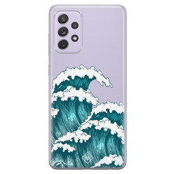 Casimoda Samsung Galaxy A72 transparant hoesje - Wave