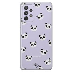 Casimoda Samsung Galaxy A72 transparant hoesje - Panda