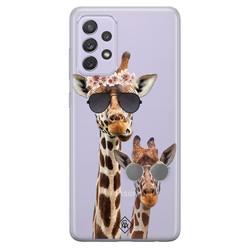 Casimoda Samsung Galaxy A72 transparant hoesje - Giraffe