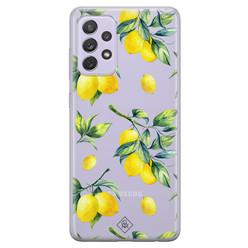 Casimoda Samsung Galaxy A72 transparant hoesje - Lemons