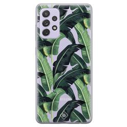 Casimoda Samsung Galaxy A72 transparant hoesje - Jungle