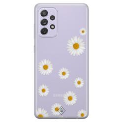 Casimoda Samsung Galaxy A72 transparant hoesje - Daisies
