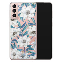 Casimoda Samsung Galaxy S21 transparant hoesje - Touch of flowers