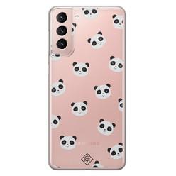 Casimoda Samsung Galaxy S21 transparant hoesje - Panda