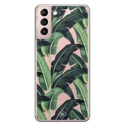 Casimoda Samsung Galaxy S21 transparant hoesje - Jungle