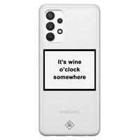 Casimoda Samsung Galaxy A32 4G transparant hoesje - Wine time