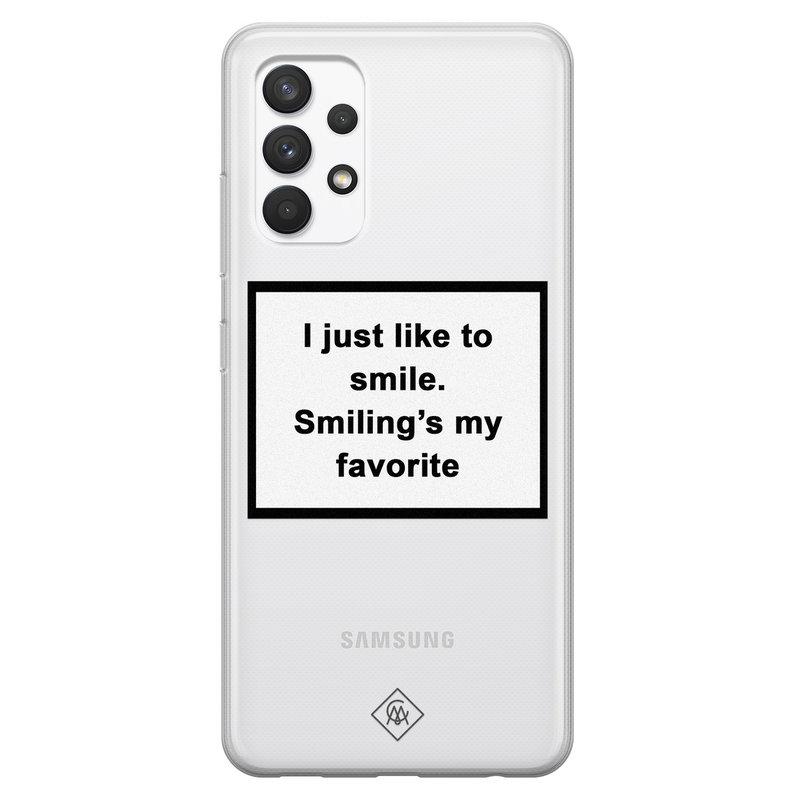 Casimoda Samsung Galaxy A32 4G transparant hoesje - Always smiling