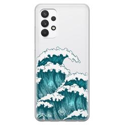 Casimoda Samsung Galaxy A32 4G transparant hoesje - Wave