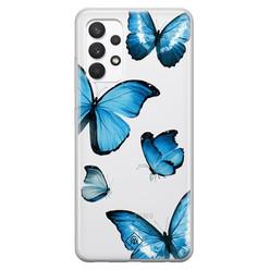 Casimoda Samsung Galaxy A32 4G transparant hoesje - Vlinders