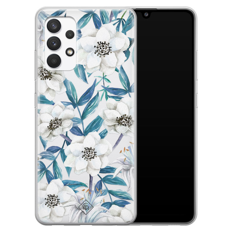 Casimoda Samsung Galaxy A32 4G transparant hoesje - Touch of flowers