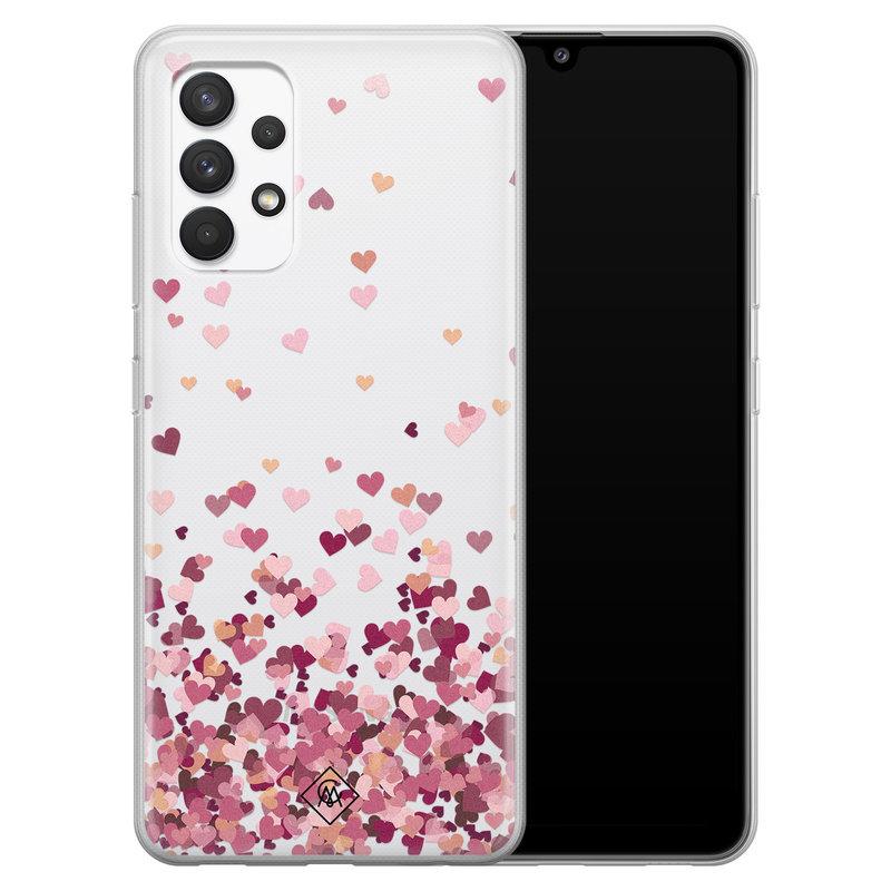 Casimoda Samsung Galaxy A32 4G transparant hoesje - Falling hearts