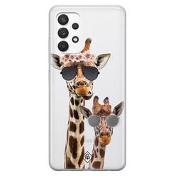 Casimoda Samsung Galaxy A32 4G transparant hoesje - Giraffe