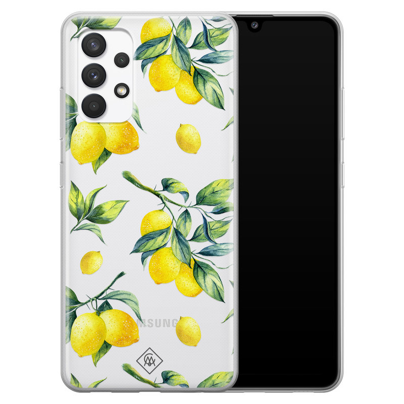 Casimoda Samsung Galaxy A32 4G transparant hoesje - Lemons