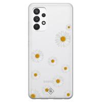 Casimoda Samsung Galaxy A32 4G transparant hoesje - Daisies