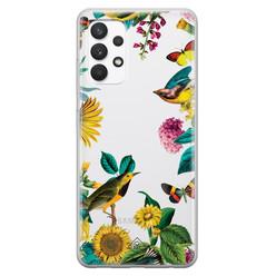 Casimoda Samsung Galaxy A32 4G transparant hoesje - Sunflowers