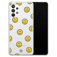 Casimoda Samsung Galaxy A32 4G transparant hoesje - Smileys