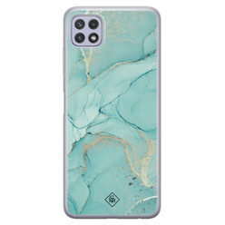 Casimoda Samsung Galaxy A22 5G siliconen hoesje - Touch of mint