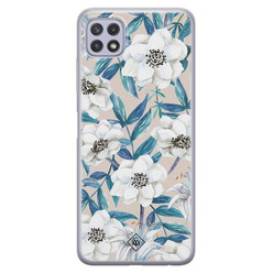 Casimoda Samsung Galaxy A22 5G siliconen hoesje - Touch of flowers