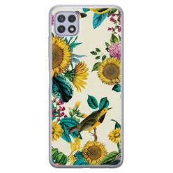 Casimoda Samsung Galaxy A22 5G siliconen hoesje - Sunflowers