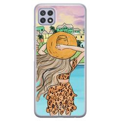 Casimoda Samsung Galaxy A22 5G siliconen hoesje - Sunset girl