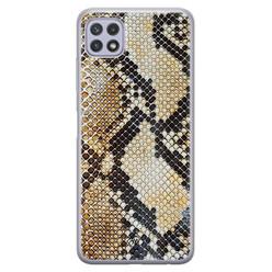 Casimoda Samsung Galaxy A22 5G siliconen hoesje - Golden snake