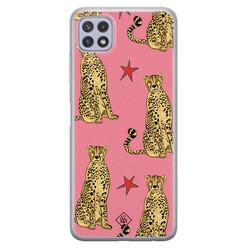Casimoda Samsung Galaxy A22 5G siliconen hoesje - The pink leopard
