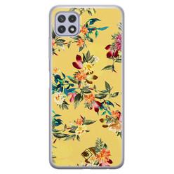 Casimoda Samsung Galaxy A22 5G siliconen hoesje - Floral days