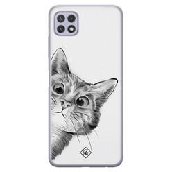 Casimoda Samsung Galaxy A22 5G siliconen hoesje - Peekaboo