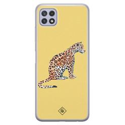 Casimoda Samsung Galaxy A22 5G siliconen hoesje - Leo wild