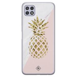 Casimoda Samsung Galaxy A22 5G siliconen hoesje - Ananas