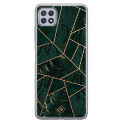 Casimoda Samsung Galaxy A22 5G siliconen hoesje - Abstract groen